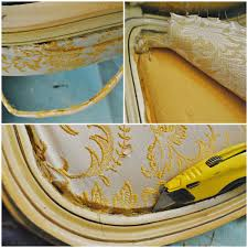 French Yellow Chair Sophia U0027s French Chair Reupholstery Makeover And Tutorial