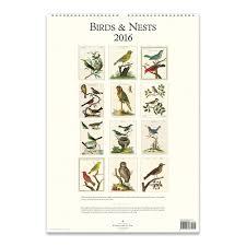 cavallini calendars cavallini papers 2016 wall calendar birds nests 13 x 19 eco