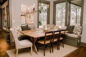 kitchen nook table dining room transitional with banquette