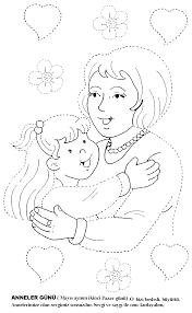 mother u0027s coloring pages kids preschool kindergarten