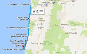 map of oregon lighthouses take a beautiful lighthouse road trip on the oregon coast