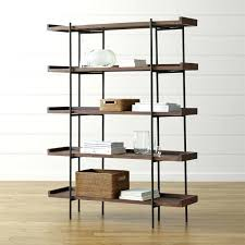 crate and barrel ladder desk leaning desk bookcase linea leaning desk bookcases thesocialvibe co