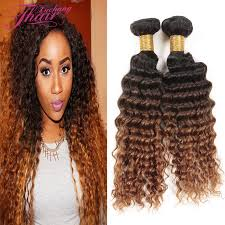 ombre weave vip beauty hair curly 2 bundles 1b 4 30 ombre