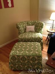Armchair Slipcovers Apartments Terrific Small Living Room Design With Green Armchair