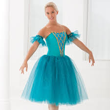 2017 romantic ballet dress for children sky blue girls