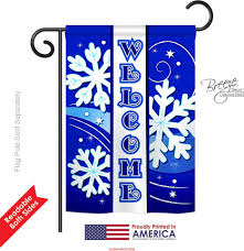 Monogram House Flags Welcome Winter Garden Flag Welcome Winter Garden Flags
