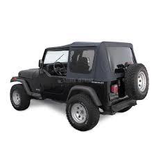 black jeep wrangler jeep soft top for 88 95 wrangler yj w tinted windows in black