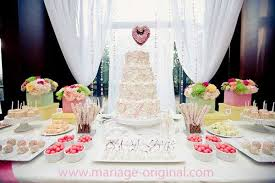 dessert mariage table du gateau de mariage