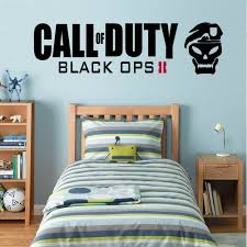 call of duty black ops 2 wall decal art sticker boy s bedroom call of duty black ops 2 wall decal art sticker boy s bedroom playroom hall medium amazon co uk kitchen home