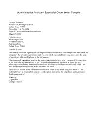 admin assistant cover letter cover letter resume sample