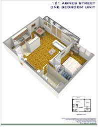 Bachelor Apartment Floor Plan by Agnes Apartments Cooksville Mississauga Mississauga