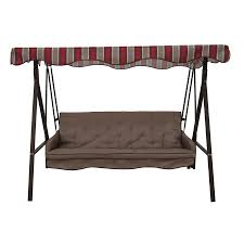 Outdoor Swing Chair Canada Lowes Garden Treasures 3 Seat Cushioned Porch Swing 198 00