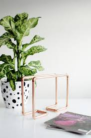 Copper Decorations Home by Diy Copper Pipe Magazine Rack