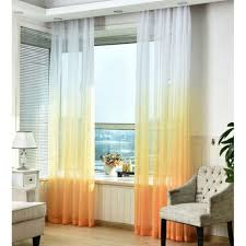 Ombre Sheer Curtains Curtain Staggeringe And Yellow Curtains Image Concept 28x67
