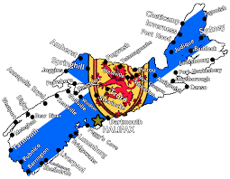 Map Of Nova Scotia Nova Scotia Flag Map Cities And Towns By Therealcanadianboys On