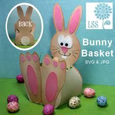 rabbit easter basket easter bunny basket templates happy easter 2017