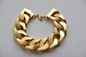 cuban chain bracelet images Celine authentic chunky cuban gold tone chain bracelet m size at jpeg