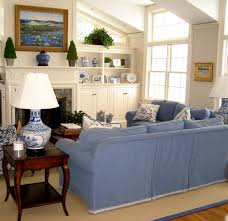 Blue And White Decorating Blue And White Family Room