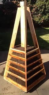How To Build A Vertical Garden - vertical garden pyramid tower home outdoor decoration