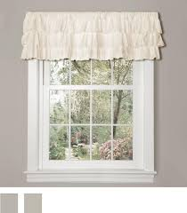 Vertical Ruffle Curtains by Amazon Com Lush Decor Belle Curtain 84 X 54 Inches Ivory Home