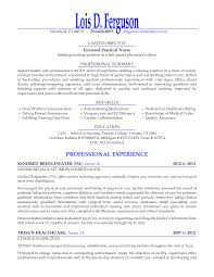 licensed practical nurse seeking nursing position resume objective