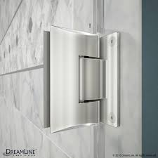 48 In Shower Door Unidoor Plus 47 48 1 2 Hinged Shower Door 24 In Buttress Panel