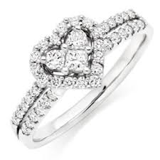 diamond heart ring 18ct white gold heart shaped diamond ring bluewater 1 850 00