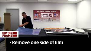 Mounting Posters Without Frames How To Assemble Your Large And Oversized Poster Frames Youtube