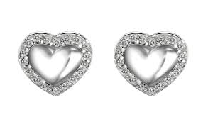 scott kay engagement rings scott kay sterling silver 0 18ct diamond heart stud earrings