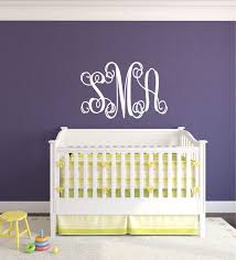 monogram decal bedroom decor name wall decal teen bedroom decor