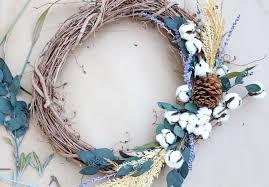 diy raw cotton fall wreath lily u0026 val living