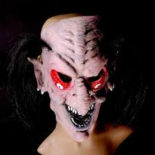 red eye black hair witch mask prank props scary halloween house of
