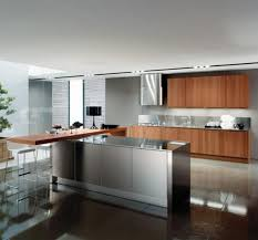 stainless kitchen island 15 contemporary kitchen designs with stainless steel cabinets rilane
