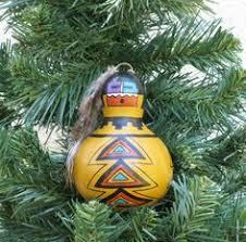 navajo sand painted ornaments 3 set o81