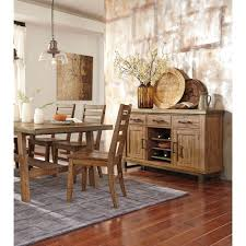 Solid Oak Dining Room Sets by 5 Piece Solid Wood Rectangular Dining Table Set By Signature