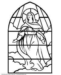 bible coloring pages stained glass mother mary coloring pages