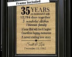 35 anniversary gift 35th anniversary etsy