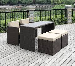 5 Piece Patio Dining Sets - amazon com handy living 5 piece wicker indoor outdoor dining set