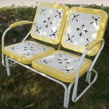 Patio Furniture Glider by Retro Patio Furniture U0026 Metal Glider Just Like You Remember