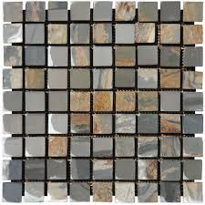 Peacock Slate Floor Tiles by Backsplash Feature Stripe W White Subway Tiles Http Www