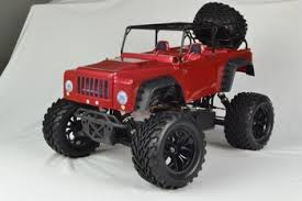 popular racing toy 1 10 nitro rc monster truck red jeep body