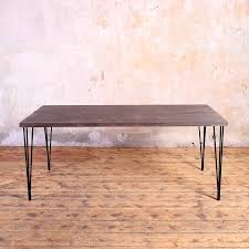 industrial hairpin leg desk hairpin legs industrial style dining table by cosywood