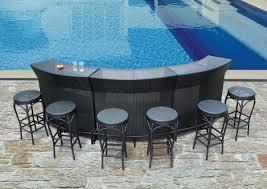 Aluminum Patio Bar Set Glamorous Outdoor Patio Bar Furniture Sets On Half Circle Shape