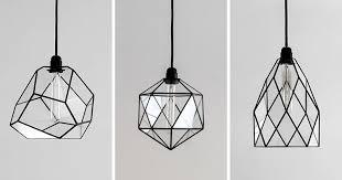Modern Black Pendant Light These Delicate And Handmade Pendant Lights Offer A Geometric