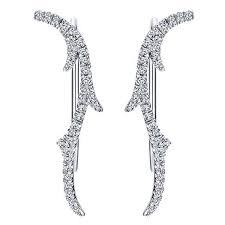 diamond ear cuff diamond earcuff 1 4cttw diamond climber earrings mullen