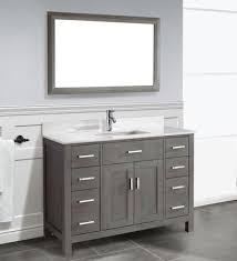 traditional bathroom vanity kalize 48 gray finish