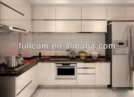 Kitchen Cabinet Doors Mdf by Euro Style High Gloss White Thermo Foil Finish Mdf Kitchen Cabinet