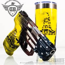 Yellow And White Flag Cerakote Coatings Gallery Detail