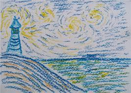 starry night lesson plan teaching high students impasto