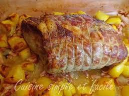 comment cuisiner roti de porc rôti de porc et ses petites pommes de terre cuisson au four